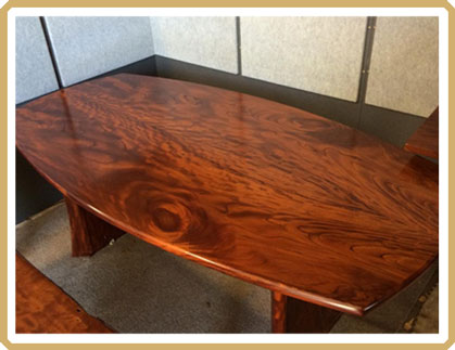 Cedarworks custom made Australian Red Cedar dining table