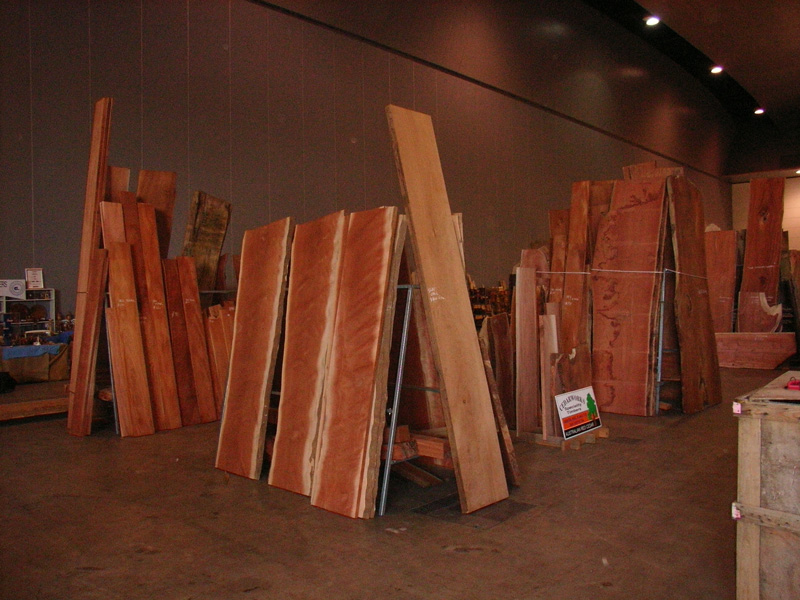 cedar slabs on display indoors